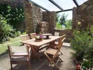 color, geometría, terapia alternativa- jardín cubierto
